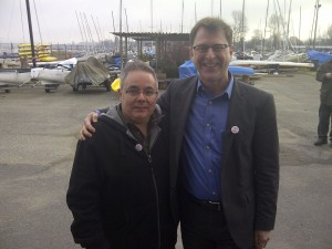 Adrian Dix and I Clowning Around before Coast Guard Speeches.